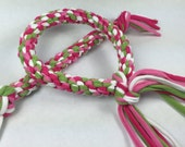 Watermelon Mix Rope Ring Dog Toy made from Upcycled T-shirts