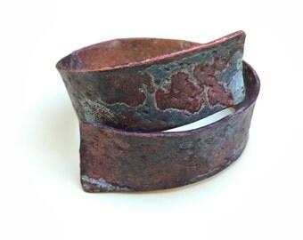 Copper wrap around bracelet