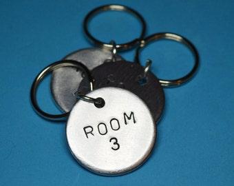 Hotel Room Keychain, Room key tag, Personalised, Customised keyrings, Personalised gifts, Handstamped keychain,Number tag,keychain hotel, uk