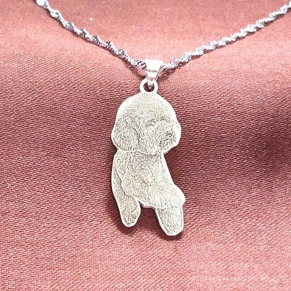 custom portrait necklace personalized pendant engraved photo