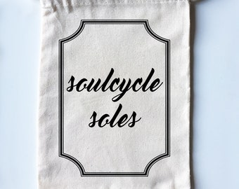 Soulcycle Soles - Adorable Cycle Shoe Bags!