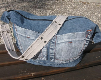 Denim bag,handbag,slouchy bag,shoulder bag,bags,jeans bag,streetfashion,grungestyle,hippie,Женские сумки,recycleddenim,Сумки,gifts,Tote bags