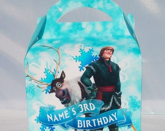 Frozen Boys Personalised Children's Party Box Gift Bag Favour