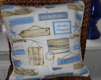 Cushion Cover in Prestigious fabric 'Harbour' approx 18in x 18in