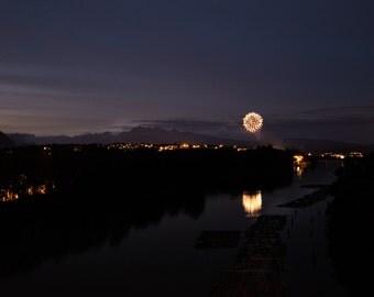 Firework - 90% of profits donated to charity. Nature, fireworks, celebration, reflection, long exposure