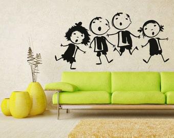 rvz1326 Wall Decal Vinyl Sticker Decals Kids Nursery Baby Boys Girls Group