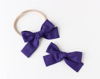 """Amethyst Fabric """"Magnolia"""" Bow"""