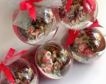 3d Christmas bulbs