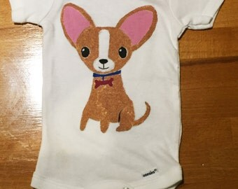 Chihuahua Puppy Hand Painted Gerber Onesie