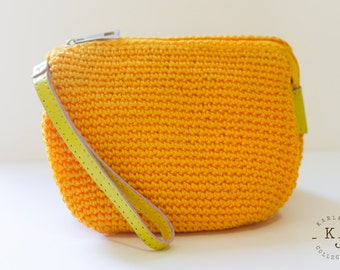 Hand Knitted Clutch/Pouch/Purse/Bag/Wallet