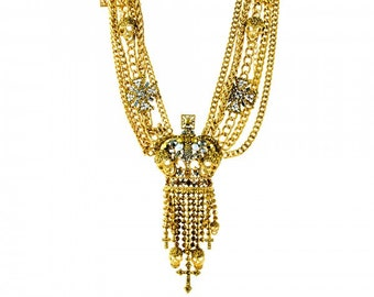 Crown Cross Grand Necklace