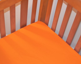 Orangy Orange Fitted Crib/Toddler Bed Sheet