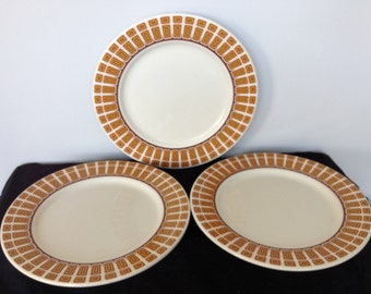 Set of Three mid-Century Modern Shenango Dinner Plates