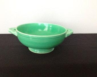 Vintage Green Fiestaware Cream Soup Bowl