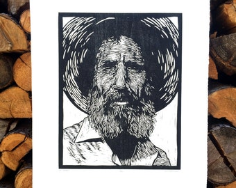 Ed Abbey, Woodcut Print