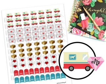 Printable Happy Mail Postal and Shipping Planner Stickers for ECLP and other planners