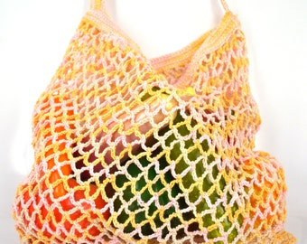 A string bag, avoska, farmers market bag