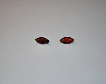 4 x 8 (0.72ct) Dark Red Marquise Cut Garnet Stone