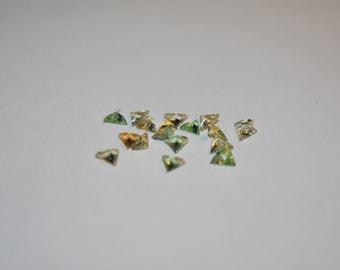 3.8 x 4.2 (0.12ct) Light Green Triangle Tourmaline Stones