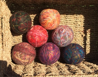 Wool Dryer Balls, 100% and felted