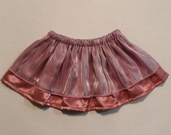 Iridescent Purple & Pink Satin Skirt