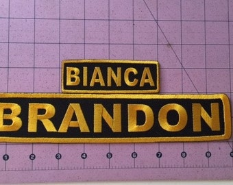 Name Patch / Ride Name / Club Position / Custom Patch / Iron On or Sew On