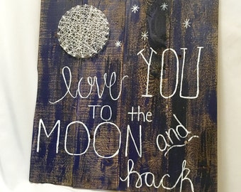 Love You Pallet String Art