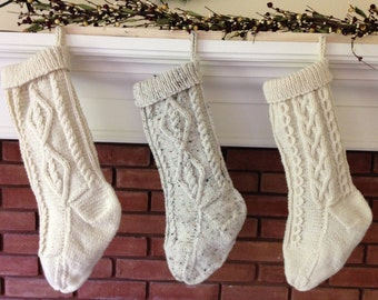 Cable knit stocking | Etsy