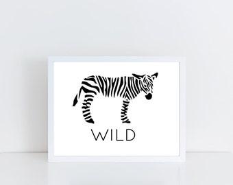 Wild, Zebra Print