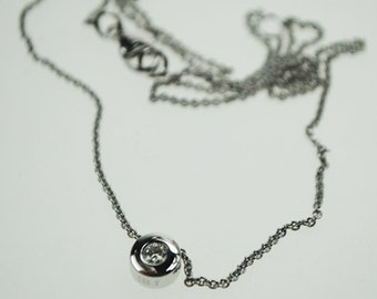 necklace with diamond pendent