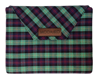 Finnley iPad Case/Tablet Case - Navy and Green Plaid