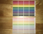 40 Appointment Labels Planner Stickers in Bold or Pastel Raindow Colors for Erin Condren LifePlanner, Filofax, Kikki K