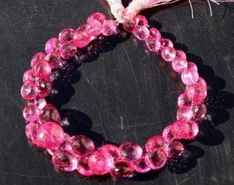 25 Pcs Pink Mystic Quartz Micro Faceted Onion Briolettes Size 6 - 11 mm approx loose gemstone briolette beads A01
