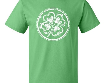 Happy St. Patrick's Day Four Leaf Clover Irish Green Beer T-Shirt