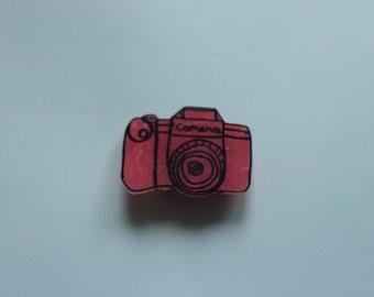 Pink Camera Pin