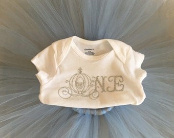 Cinderella First Birthday Outfit,