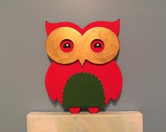 Red Kiddo Painted Owl