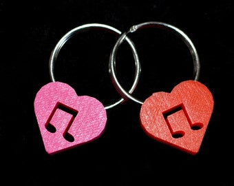 I Love Music key ring