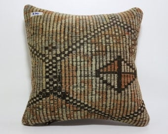 large kilim pillow 20x20 carpet kilim pillow  throw pillow turkish kilim pillow floor cushion cover boho pillow faded pillow SP5050-590