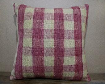 16x16 Kilim Pillow,Vintage Turkish Kilim Pillow Cushion Cover,Sofa Pillow,Boho Pillow Decorative Pillow Kilim Cushion SP40-44