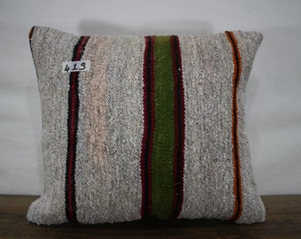 16x18 Turkish Kilim Pillow,Kilim Cushion Cover,Kilim Pillowcase Sofa Pillow,Bohemian Pillow Decorative Pillow,Tribal Pillow SP4040-419