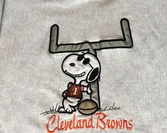 Vintage Cleveland Browns Joe Cleveland Snoopy Crewneck Sweater Sweatshirt 80s 90s  football Size Medium CLE NFL