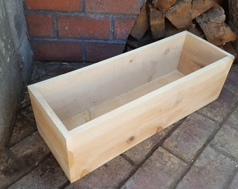 Deep & Wide Basic Cedar Planter Box