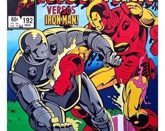 "Iron Man, Comic Art, Avengers, Iron Man Movie, 12"" x 16""  Pop Art Print, Suitable for Framing, Super Hero Wall Art, Unique Gift"