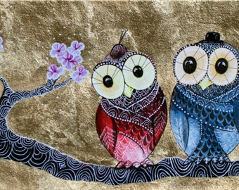 Blossoming Spring Owl Art Print