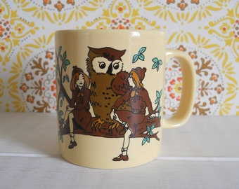 Vintage Kitsch 1970s/80s Brownies, Brownie Guide Law Mug - Kilncraft, Staffordshire Potteries