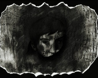 "Original art work: ""Haunted""- Barnabas Collins from Dark Shadows"