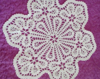 Brugges lace crochet doily, Brugges crochet, tablecloth