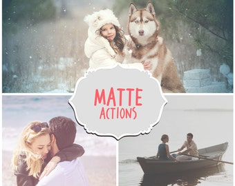 30 Matte Actions - Matte Photoshop Actions -Adobe Photoshop Actions