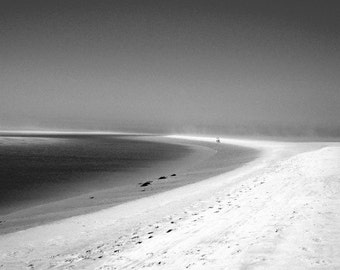 Black and White Photography: Sand Blown Mirages Black and White Photographic Print